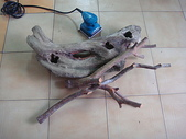 手工藝品:漂流木花器DIY DSC04405.JPG