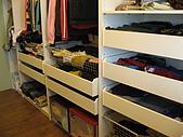 2008 新家照:主臥旁的更衣室~ikea的作品