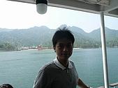 20080526 廣島與宮島:在渡輪上留影