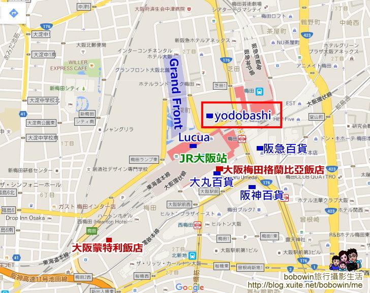 大阪梅田yodobashi Coleman:梅田地圖_1.jpg