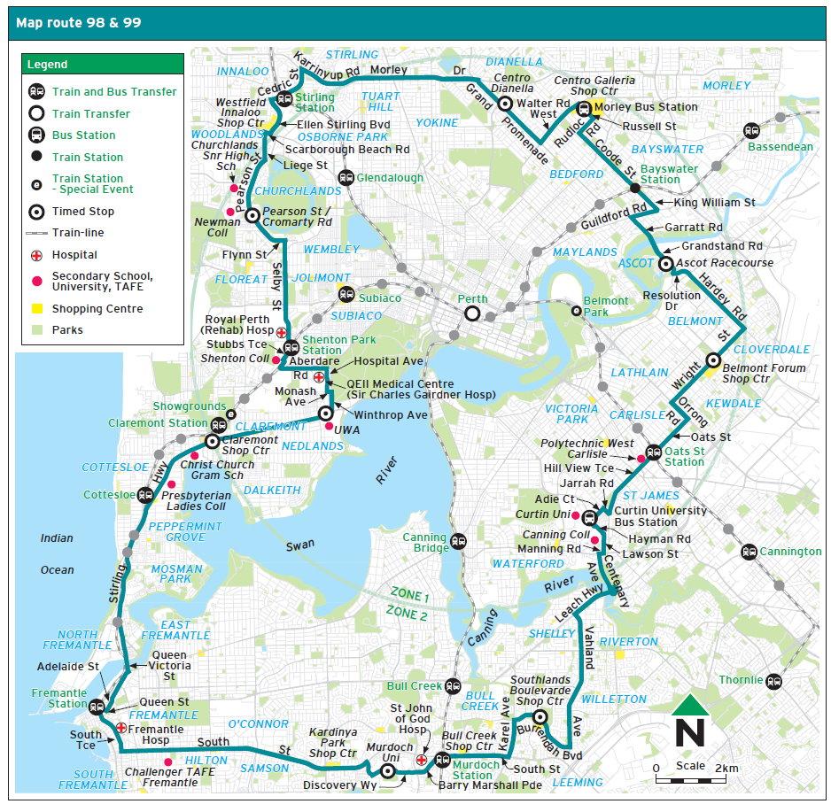Perth Traffic:Circle Route Bus.jpg