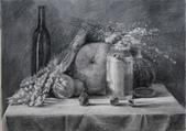 我的作品~素描:靜物/炭筆素描/4K