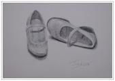 我的作品~素描:鞋/素描/8K