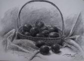 我的作品~素描:百香果/炭筆素描/4K