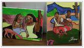 學生作品~繪畫:油畫~向高更學習