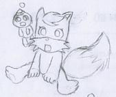 觸手─手繪系列:坐著的小狐貍.gif