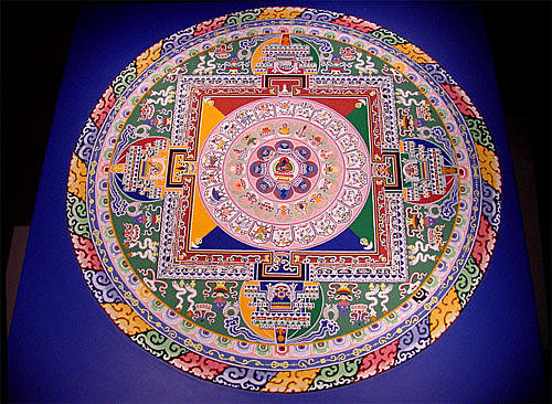 藏傳佛教喇嘛用砂畫曼陀羅圖 At 高老師的談愛 寬容與自由園地 隨意窩