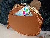 皮革縫製:熊零錢包+卡包