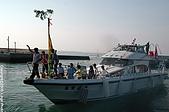 菊島風情-澎湖風俗文化:新船下水的丟麻薯習俗