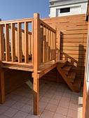 架高平台:南方松木結構架高露臺