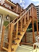 架高平台:木梯