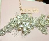 Elena's高質感設計師飾品。頭飾:T & H 獨家特製俄羅斯蕾絲水晶Headband實品圖