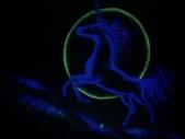 趙畫師的星空壁畫作品--獨角獸特寫:獨角獸1