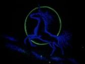 趙畫師的星空壁畫作品--獨角獸特寫:獨角獸2