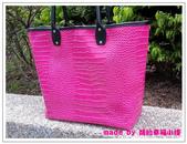 托特包-桃紅色亮面鱷魚紋:拖特包+小小後背包-12.jpg