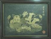 石銅雕畫作品:連年有餘