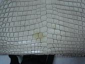 BOTTEGA VENETA包包清洗整染前後:60萬的BV鱷魚包(前)