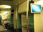 970712香港自由行1:與一般的列車內裝略有不同