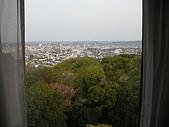 日本賞櫻之倉敷觀龍寺:飯店外岡山市景色