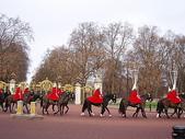 2005倫敦耶誕:倫敦  白金漢宮  看到騎兵隊