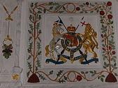 關於英國:愛丁堡城堡裡  牆上的徽章標誌