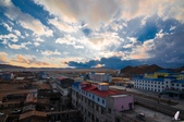 金秋北疆遊《一》:DSC_3074巴音布魯克小鎮的落日餘暉.jpg