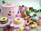 Mother garde:mother garden 兒童過家家木制玩具 草莓甜甜圈派對組3.jpg