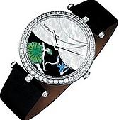 鐘錶相關相片:梵克雅寶Lady Arpels Foliedes Prés腕表