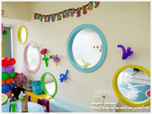 Cherry 4 age birthday party:牆上的氣球都是ANGEL自己做的哦