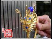 柳絲神明帽、水鑽神帽、神明兵器、銅帽、鎖牌、帽墜(宜蘭神佛繡莊):2呎2柳絲太子兵器(水鑽+瑪瑙)1.jpg