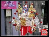 柳絲神明帽、水鑽神帽、神明兵器、銅帽、鎖牌、帽墜(宜蘭神佛繡莊):柳絲雙色 九鳳冠(水鑽+紅瑪瑙珠).jpg