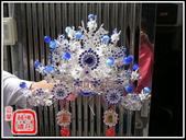 柳絲神明帽、水鑽神帽、神明兵器、銅帽、鎖牌、帽墜(宜蘭神佛繡莊):精緻銀柳絲帽+水鑽+瑪瑙(柳絲相帽)