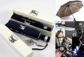 名牌雨傘:burberry雨傘帶LED燈可換電池黑藍兩色160621p85.png