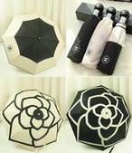 名牌雨傘:香奈兒山茶花自動傘150627p70
