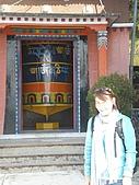 2008 india trip:Cannie@Tibetan Temple-2.JPG